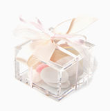 Wedding favor. Close-up of a wedding favor isolated on white background stock images