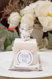 Wedding favor. And angel with heart Royalty Free Stock Photo
