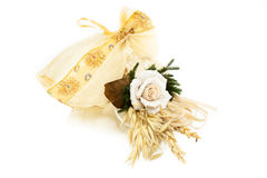 Wedding Favor Decorated With Rose Stock Photos