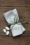 Wedding favor. On old wooden table royalty free stock photos