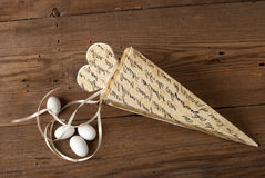 Wedding favor. On old wooden table stock photography