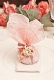 Wedding favor. Table decoration for wedding party Royalty Free Stock Images