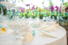 Wedding favors. Beautiful wedding gifts for guest Royalty Free Stock Photo