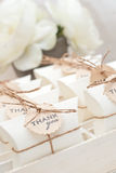 Wedding favors. Box and candy Royalty Free Stock Photo