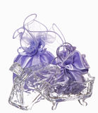 Wedding favors and flowers Royalty Free Stock Photos