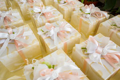 Wedding favors. Wedding gifts for wedding guest royalty free stock photo