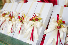 Wedding favors. Wedding gifts for wedding guest Stock Photos