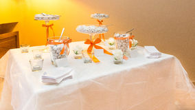 Wedding favors. Wedding gifts for wedding guest stock photography