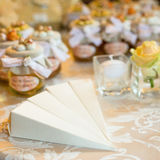 Wedding favors. Wedding gifts for wedding guest stock photo