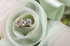 Wedding favors and ring Stock Photography