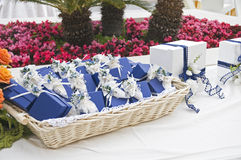 Wedding favors wicker. Stock Photo