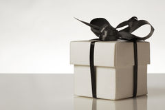 Wedding favours gift boxs. Small gift box with a ribbion around the box tied into a bow Stock Photography