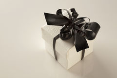 Wedding favours gift boxs. Small gift box with a ribbion around the box tied into a bow Royalty Free Stock Photography