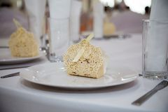 Favours. Wedding favours on a white plate Stock Photo
