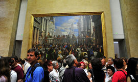 The Wedding Feast at Cana - Louvre gallery Stock Images