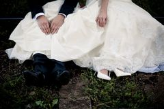 Wedding feet Royalty Free Stock Image