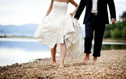 Wedding feet Royalty Free Stock Photography