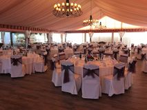 Wedding fest. With tables and chairs Royalty Free Stock Images