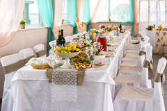 Wedding festive food table Stock Images