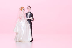 Wedding figurines Stock Photos