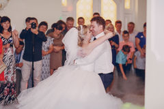 Wedding first dance Royalty Free Stock Image