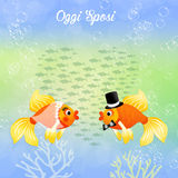 Wedding of fishes Stock Photo