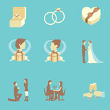 Wedding Flat Icons Royalty Free Stock Images