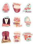 Wedding flat icons Stock Image