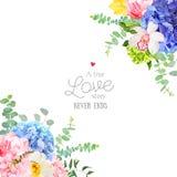 Wedding floral angle vector design frame stock illustration