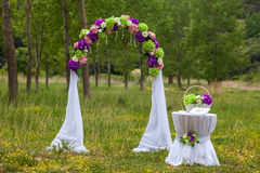 Wedding floral arc Stock Photos