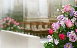 Wedding floral arrangment Stock Photos