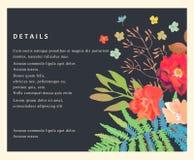 Wedding Floral Background. Colorful Invitation, Cards, For Desig Stock Images