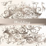 Wedding  floral background Royalty Free Stock Photos