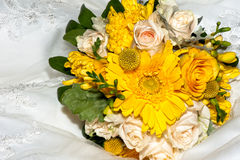 Wedding Floral Bouquet. Of the bride Stock Photo