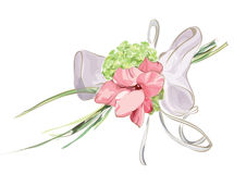 Wedding Floral Decor with Hydrangea and Gladiolus. Illustration Stock Photo