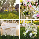 Wedding floral decoration Stock Photos