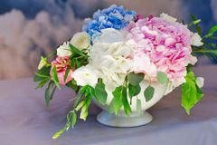 Wedding floral decorations stock image