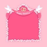 Wedding floral frame Stock Image
