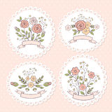 Wedding floral graphic set Royalty Free Stock Photo