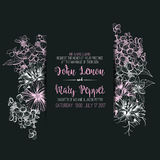 Wedding floral greeting card, invitation Royalty Free Stock Images