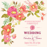 Wedding Floral Invitation Card Stock Photography