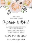 Wedding floral Invitation invite vector watercolor card Design w Royalty Free Stock Images