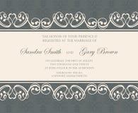 Wedding floral invitation Stock Photography
