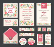 Wedding floral template collection Stock Images
