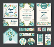 Wedding floral template collection Royalty Free Stock Photo