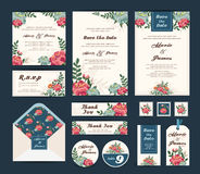 Wedding floral template collection. Royalty Free Stock Image