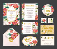 Wedding floral template collection. Royalty Free Stock Photos