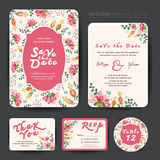Wedding floral template collection Royalty Free Stock Photos