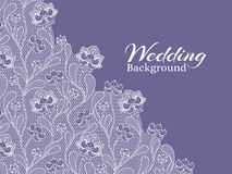 Wedding floral vector background with lace pattern. Wedding lace ornament textile illustration vector illustration