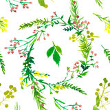 Wedding floral watercolor pattern. Stock Photography